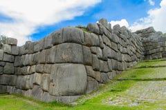 Sacsayhuaman inca city ruins wall Royalty Free Stock Images