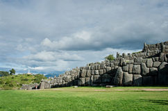 Sacsayhuaman, Inca-ruïnes in Cusco, Peru Stock Foto