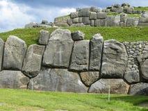Sacsayhuaman Incas fördärvar i peruanska Anderna på Cuzco Fotografering för Bildbyråer