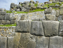 Sacsayhuaman, Incas ruins in peruvian Andes at Cuzco Peru Royalty Free Stock Photos