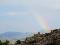 Sacsayhuaman, Incas ruins in the peruvian Andes. At Cuzco Peru stock images
