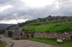 Sacsayhuaman, inka ruiny w Cusco obrazy royalty free