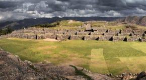 Sacsayhuaman, Inkaruinen in den peruanischen Anden nahe Cuzco, Peru Lizenzfreie Stockfotografie