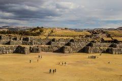Sacsayhuaman przy zmierzchem Obraz Royalty Free