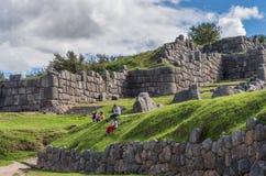 Sacsayhuaman, ruines d'Inca dans Cusco, Pérou Photographie stock