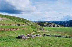 Sacsayhuaman, ruines d'Inca dans Cusco peru Photo stock