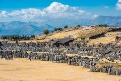 Sacsayhuaman ruiniert peruanische Anden Cuzco Peru lizenzfreies stockfoto