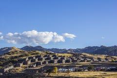 Sacsayhuaman rujnuje Cuzco Peru Fotografia Royalty Free