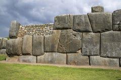 Sacsayhuaman walls, ancient inca fortress near Cuzco Stock Photos