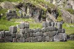 Sacsayhuaman walls, ancient inca fortress near Cuzco Royalty Free Stock Images