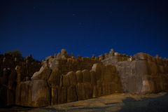 Sacsaywaman night. Royalty Free Stock Images