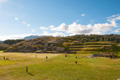 Sacsaywaman ruins in sacred valley, Peru Stock Image