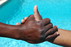 Sacudida de la mano de la xhosa Foto de archivo