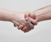 Sacudida de las manos Imagen de archivo libre de regalías