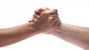 Sacudida de las manos almacen de metraje de vídeo