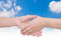 Sacudida de las manos de dos personas Imagen de archivo