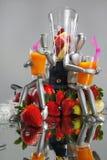 Sacudidas de fruta para los maniquíes Fotografía de archivo
