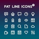 Sadło Kreskowe ikony ustawiają 1 Zdjęcie Stock