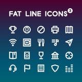 Sadło Kreskowe ikony ustawiają 3 Obraz Royalty Free