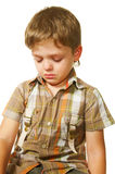 Sad. Little boy with sad face. close-up Royalty Free Stock Image