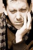 Sad. Portrait of a white man expressing sadness Stock Photos