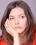 Sad. Face of a sad woman crying Royalty Free Stock Photography