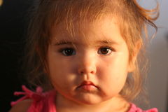 Sad. A sad Baby 1/2 caucasian 1/2 japanese Stock Image