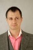 Sad. Portrait of sad man in suit Stock Photography