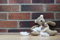 Sad Abandoned Teddy Bear Royalty Free Stock Photography