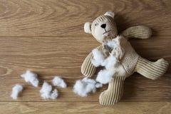 A Sad, Abandoned Teddy Bear Royalty Free Stock Photography