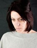 Sad abused woman Stock Images