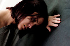 Sad abused woman Stock Photography