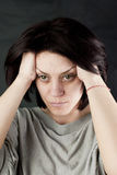 Sad abused woman Stock Photos