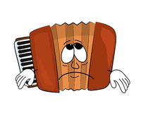 Sad accordion illustration Royalty Free Stock Photos