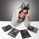 Sad accountant Royalty Free Stock Photo