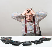 Sad accountant Stock Images