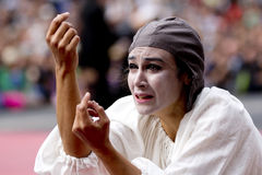 Sad actress. Stock Photo