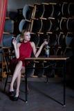 The sad actress Royalty Free Stock Photos