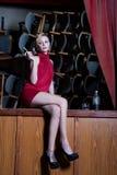 The sad actress Stock Photography