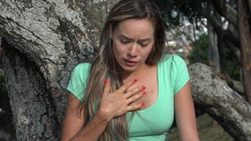 Sad Adult Crying Woman. Stock video in 4k or HD resolution stock footage