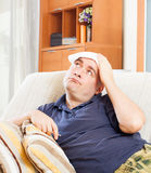 Sad adult  man having headache Royalty Free Stock Photo