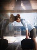 SAD affärskvinna fotografering för bildbyråer