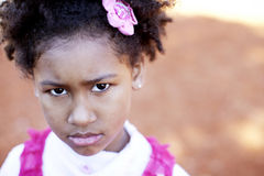 Sad african american girl Royalty Free Stock Photos