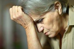 Sad aged woman Royalty Free Stock Photography