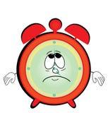 Sad alarm clock cartoon Royalty Free Stock Photos