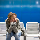 Sad and alone in a big city Stock Photos