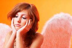 Sad Angel. Stock Photography