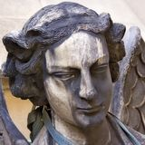 Sad Angel. Picture of a mourning angel. Shot was taken in Paris Stock Images