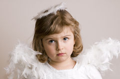 Sad Angel Stock Photo