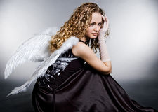 Sad angel Stock Image